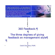 360 Feedback: The Three Degrees of Giving Feedback on Management Style ebook by Chaudron, David