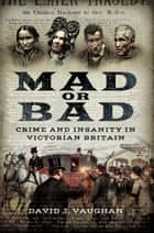 Mad or Bad - Crime and Insanity in Victorian Britain ebook by David J  Vaughan