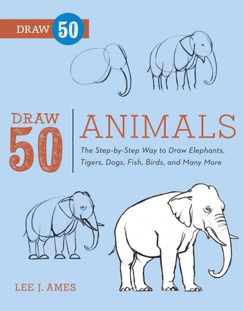 Draw 50 animals ebook by lee j ames 9780307795038 rakuten kobo draw 50 animals the step by step way to draw elephants tigers fandeluxe Image collections