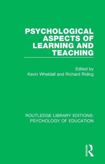 Psychological Aspects of Learning and Teaching ebook by