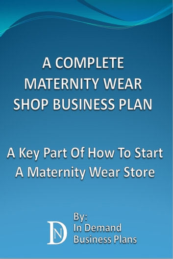 Maternity Clothing Business Plan