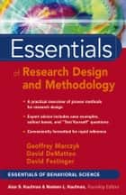 Essentials of Research Design and Methodology ebook by Geoffrey R. Marczyk,David DeMatteo,David Festinger