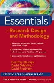 Essentials of Research Design and Methodology ebook by Geoffrey R. Marczyk, David DeMatteo, David Festinger