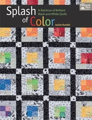 Splash of Color - A Rainbow of Brilliant Black-and-White Quilts ebook by Jackie Kunkel