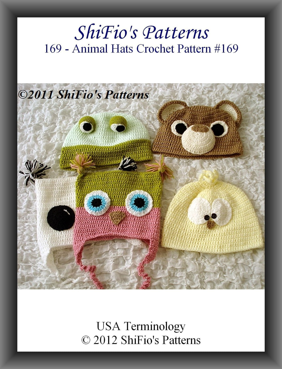 169 Adult Animal Beanies Crochet Patterns 169 Ebook By Shifios