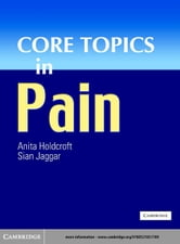 Core Topics in Pain ebook by Holdcroft, Anita