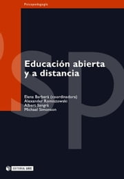 Educación abierta y a distancia ebook by Elena Barberà Gregori