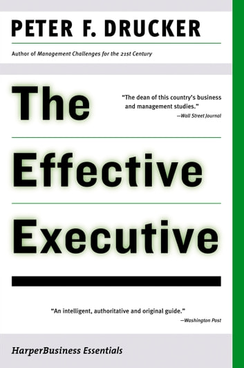 Peter Drucker The Effective Executive Pdf