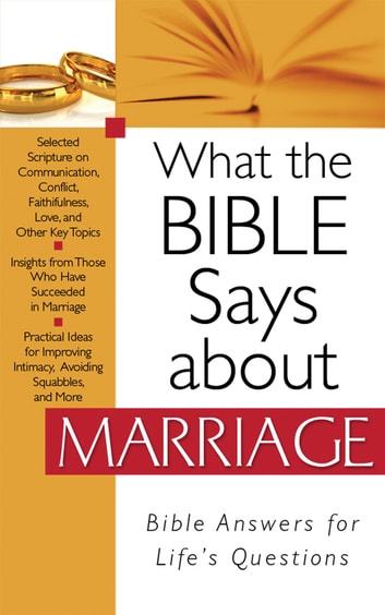 What the Bible Says about Marriage ebook by Barbour Publishing