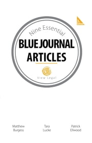 The Nine Essential Blue Journal Articles ebook by Matthew Burgess