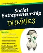 Social Entrepreneurship For Dummies ebook by Mark Durieux,Robert Stebbins