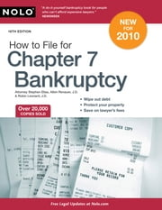 How to File for Chapter 7 Bankruptcy ebook by Stephen Elias, Albin Renauer, Robin Leonard