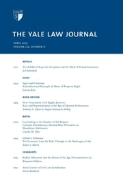 Yale Law Journal: Volume 122, Number 6 - April 2013 ebook by Yale Law Journal