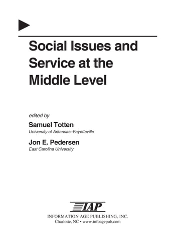 Social Issues and Service at the Middle Level ebook by