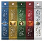 George R. R. Martin's A Game of Thrones 5-Book Boxed Set (Song of Ice and Fire Series), A Game of Thrones, A Clash of Kings, A Storm of Swords, A Feast for Crows, and and A Dance with Dragons