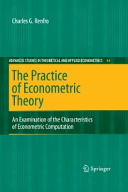 The Practice of Econometric Theory - An Examination of the Characteristics of Econometric Computation ebook by Charles G. Renfro