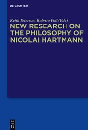 New Research on the Philosophy of Nicolai Hartmann ebook by Keith Peterson,Roberto Poli