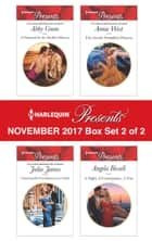 Harlequin Presents November 2017 - Box Set 2 of 2 - A Diamond for the Sheikh's Mistress\Claiming His Scandalous Love-Child\The Greek's Forbidden Princess\A Night, A Consequence, A Vow ebook by Abby Green, Julia James, Annie West,...