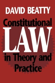 Constitutional Law in Theory and Practice ebook by David M. Beatty