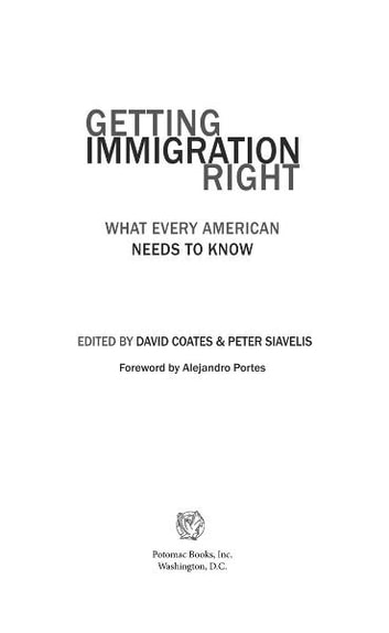 Getting Immigration Right ebook by David Coates; Peter Siavelis