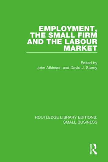Employment, the Small Firm and the Labour Market ebook by