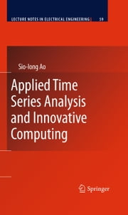 Applied Time Series Analysis and Innovative Computing ebook by Springer