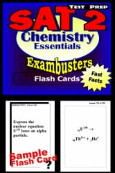 sat 2 chemistry test prep review exambusters flash cards. Black Bedroom Furniture Sets. Home Design Ideas