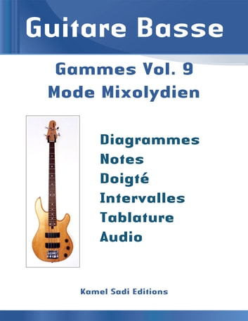 Guitare Basse Gammes Vol. 9 - Mode Mixolydien eBook by Kamel Sadi