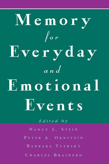 Memory for Everyday and Emotional Events ebook by