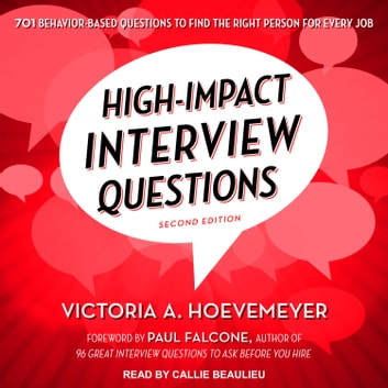 High Impact Interview Questions Audiobook By Victoria A Hoevemeyer