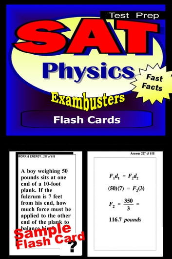 SAT Physics Test Prep Review--Exambusters Flash Cards - SAT II Exam Study Guide eBook by SAT II Exambusters
