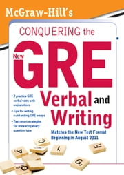 McGraw-Hill's Conquering the New GRE Verbal and Writing ebook by Kathy Zahler