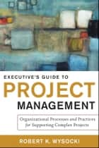 Executive's Guide to Project Management ebook by Robert K. Wysocki