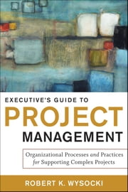 Executive's Guide to Project Management - Organizational Processes and Practices for Supporting Complex Projects ebook by Robert K. Wysocki