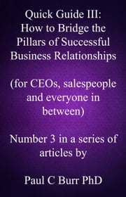 Quick Guide III: How to Bridge the Pillars of Successful Business Relationships ebook by Paul C Burr