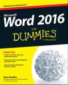 Word 2016 For Dummies ebook by Dan Gookin