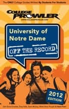 University of Notre Dame 2012 ebook by Alex Barker