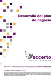Desarrollo del plan de negocio ebook by Accerto