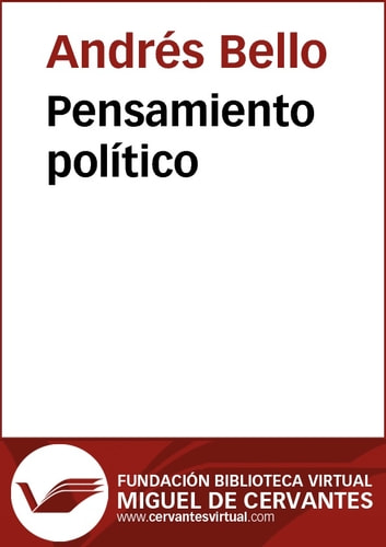 Pensamiento político ebook by Andrés Bello