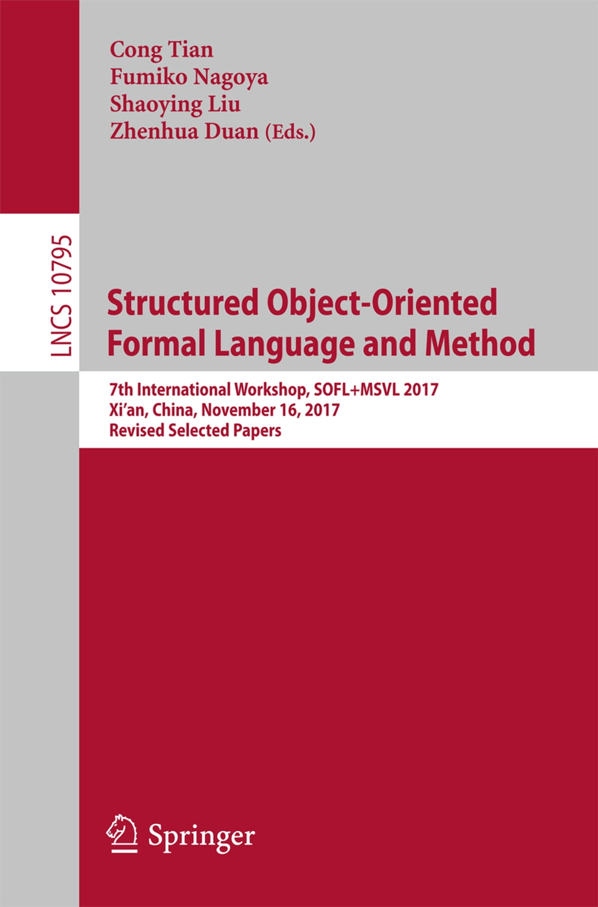 Structured Object-Oriented Formal Language and Method eBook by -  9783319901046 | Rakuten Kobo