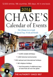 Chases Calendar of Events 2014 with CD-ROM ebook by Editors of Chases Calendar of Events