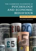 The Cambridge Handbook of Psychology and Economic Behaviour ebook by Alan Lewis