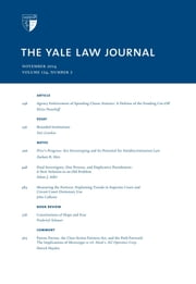 Yale Law Journal: Volume 124, Number 2 - November 2014 ebook by Yale Law Journal
