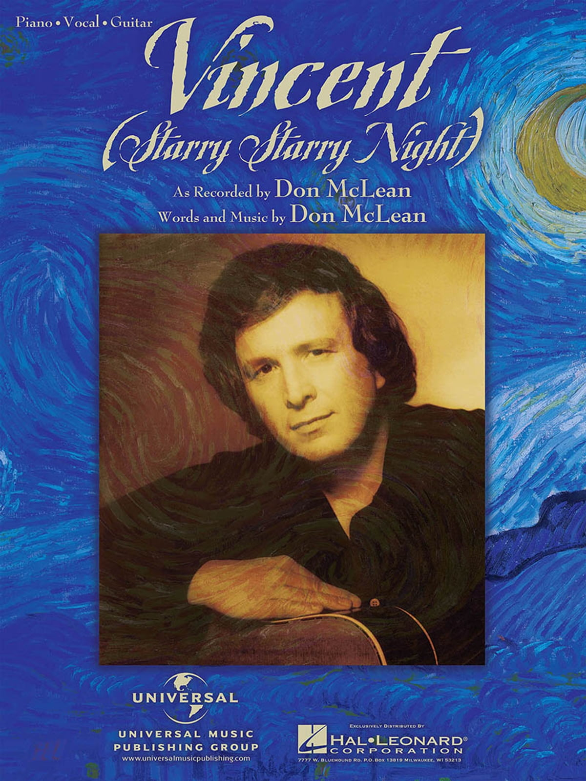 Vincent Starry Starry Night Sheet Music Ebook By Don Mclean