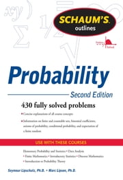 Schaum's Outline of Probability, Second Edition ebook by Seymour Lipschutz,Marc Lipson
