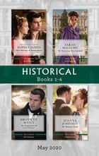 Historical Box Set 1-4 May 2020/Their Marriage of Inconvenience/The Mysterious Miss Fairchild/The Temptations of Lord Tintagel/His Runaway ebook by Sophia James, Sarah Mallory, Bronwyn Scott,...
