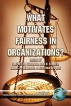 What Motivates Fairness in Organizations? ebook by Stephen W. Gilliland,Dirk D. Steiner,Daniel P. Skarlicki,Kees van den Bos