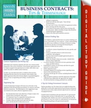 Business Contracts - Tips And Terminology (Speedy Study Guides) ebook by Speedy Publishing
