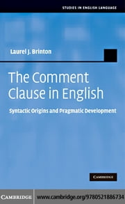 The Comment Clause in English ebook by Brinton,Laurel J.