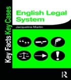 English Legal System ebook by Jacqueline Martin